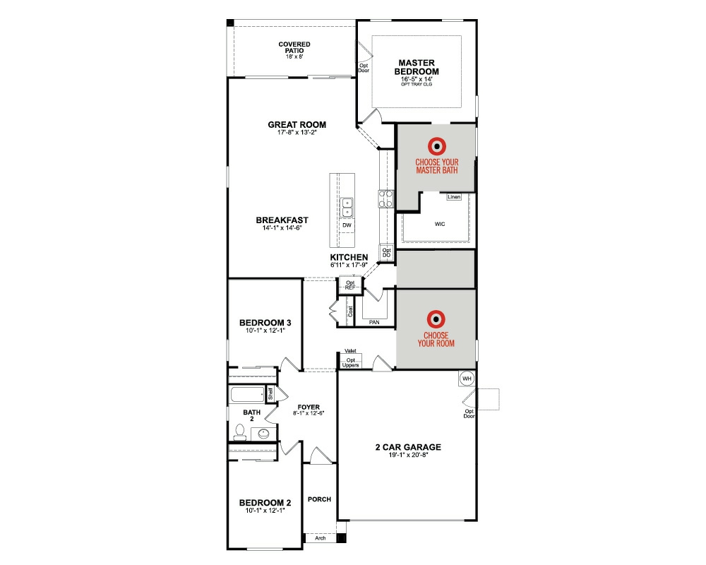 Chaparral home plan in zanjero trails surprise az for Stetson homes floor plans