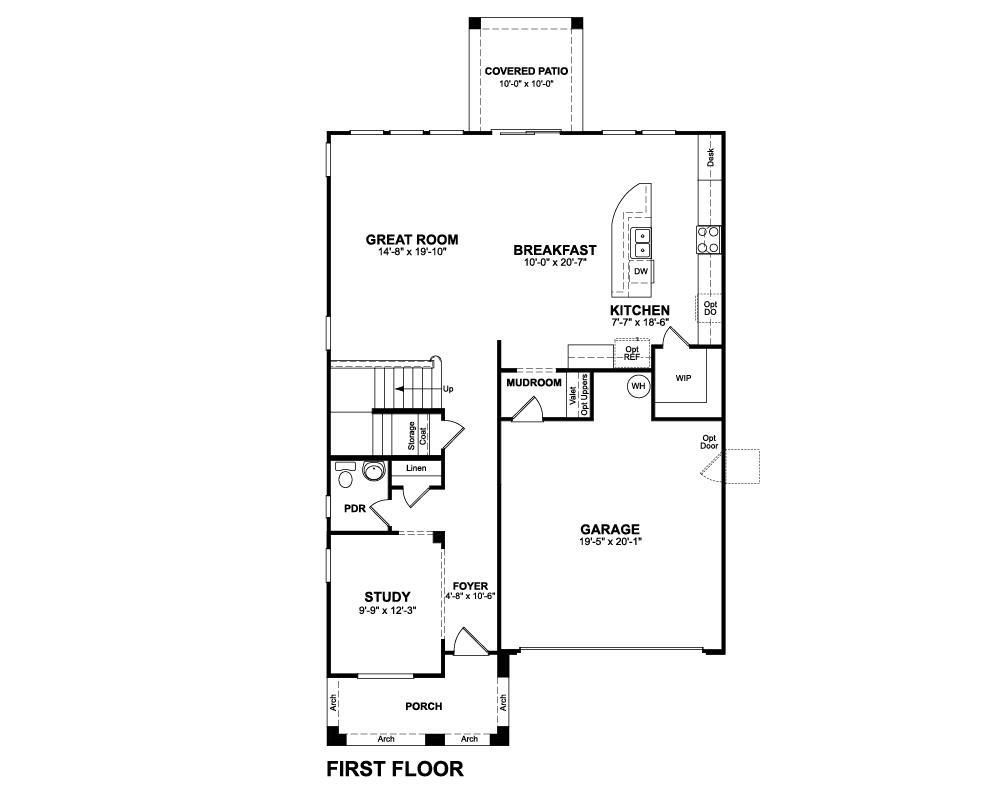 Merlot home plan in morning sun farms san tan valley az for Stetson homes floor plans